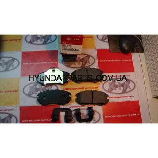 Колодки тормозные передние, HYUNDAI TUCSON 04-, 581011FA50