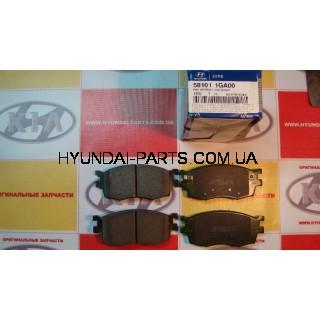 Колодки тормозные передние, HYUNDAI ACCENT 06-, 581011GA00