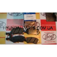 Колодки тормозные передние, HYUNDAI ACCENT 11-, 581011RA00